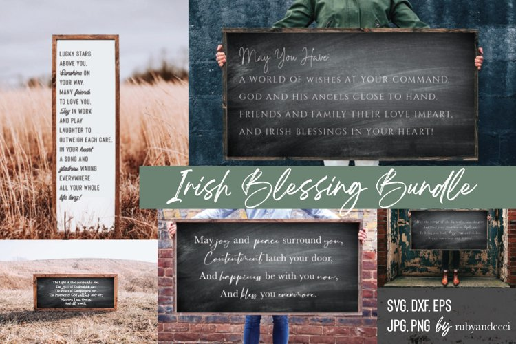 Irish Blessing svg Bundle, St Patricks Day 25 Cut Files