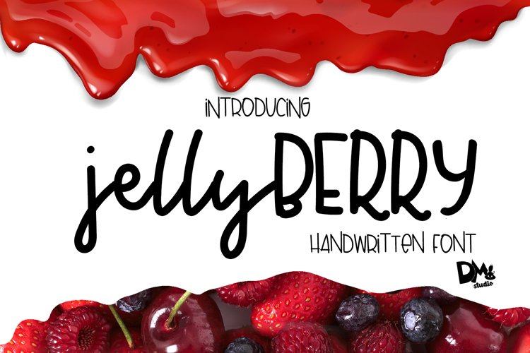 Jelly Berry - Handwritten Font example image 1