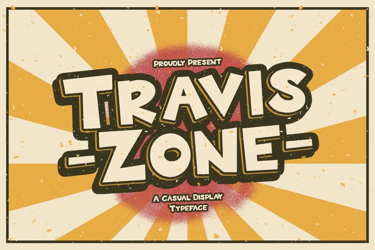 Travis Zone - Playful Display Font example image 1