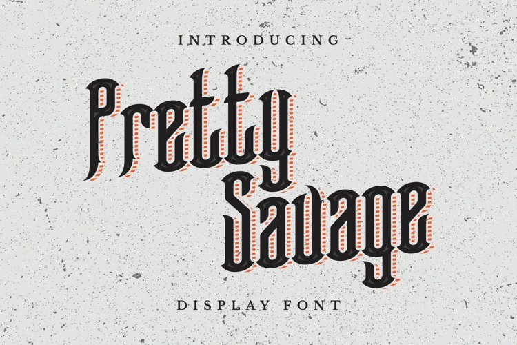 Pretty Savage Font example image 1