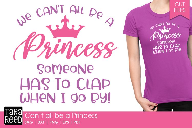 Princess SVG and Cut Files for Crafters example image 1