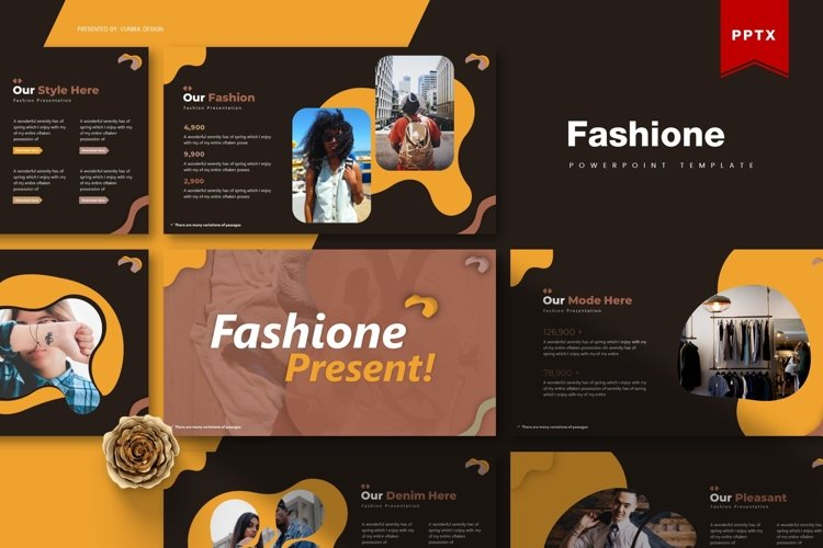 Fashione | Powerpoint, Keynote, GoogleSlides Template example image 1