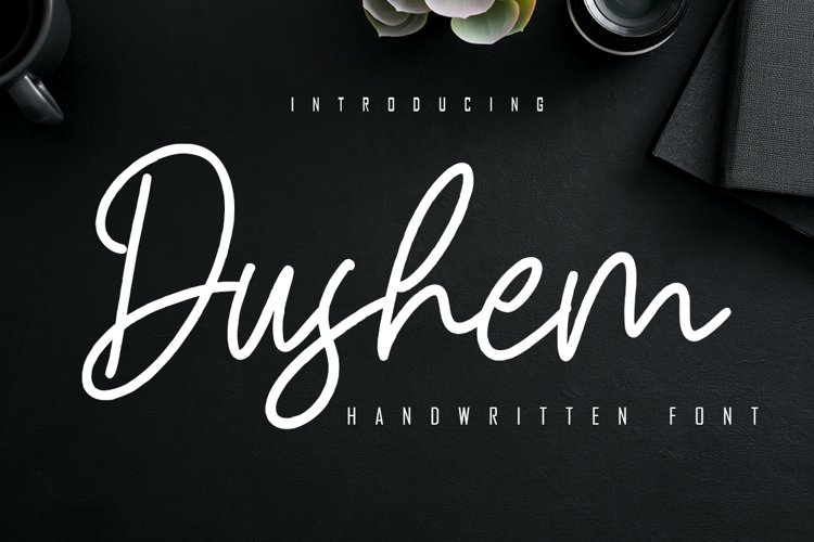 Dushem Handwritten Script example image 1