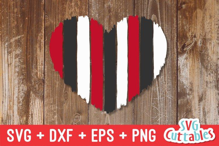 Paint Strokes Heart| SVG Cut File