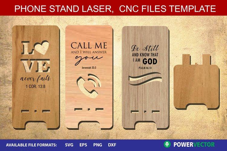 Phone Stand Cut Plan| Bible Verse CNC Laser Files