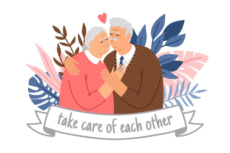 Caring elderly couple example image 1