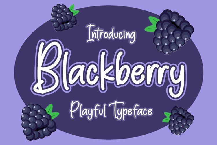 Blackberry - Playful Typeface example image 1