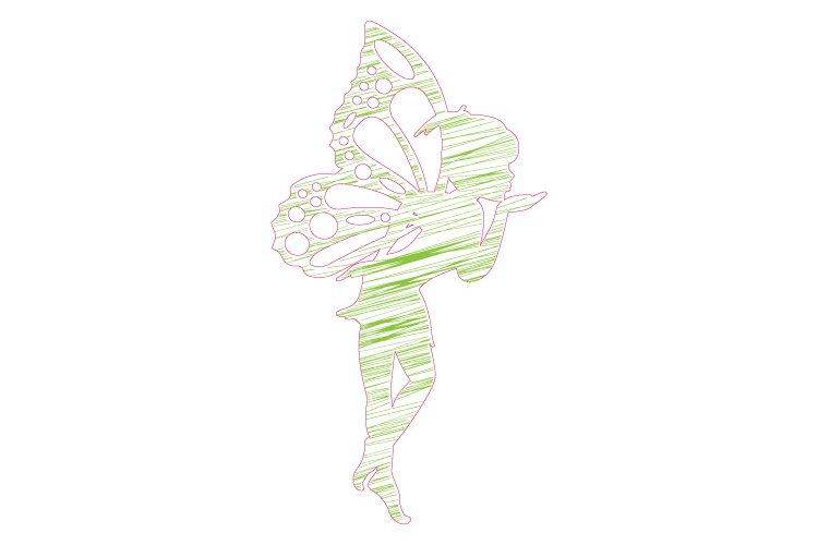 fairy with line design example image 1
