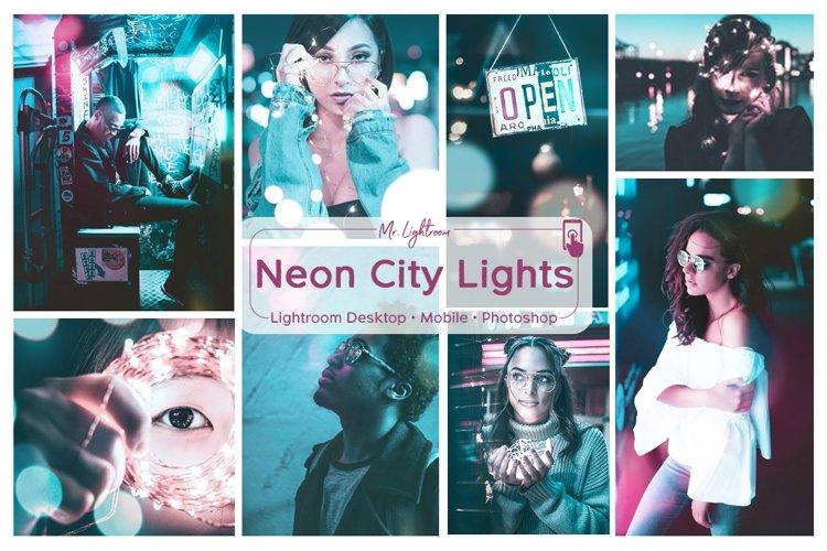 Neon City Lights Lightroom Desktop and Mobile Presets example image 1