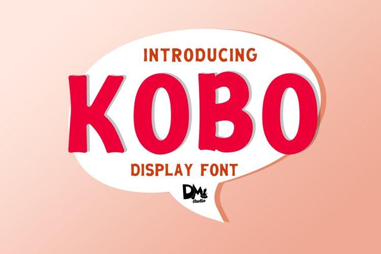 KOBO - DISPLAY FONT example image 1