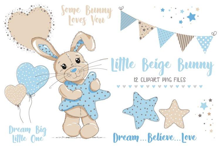 Little Beige Bunny CLIPART