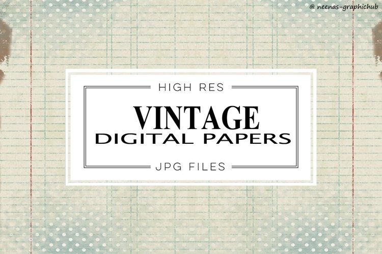 Vintage Digital Papers example image 1