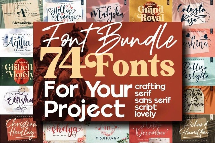 The Massive Font 74 Fonts ALL STYLE, Special Edition !!! example image 1