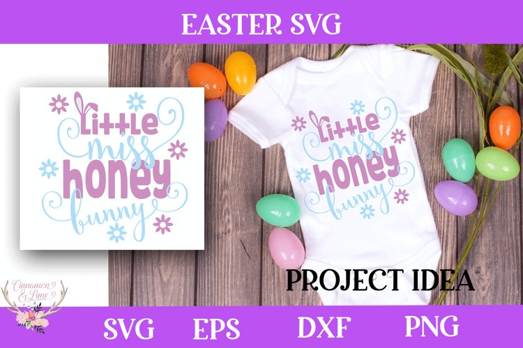 Easter SVG - Little Miss Honey Bunny example image 1