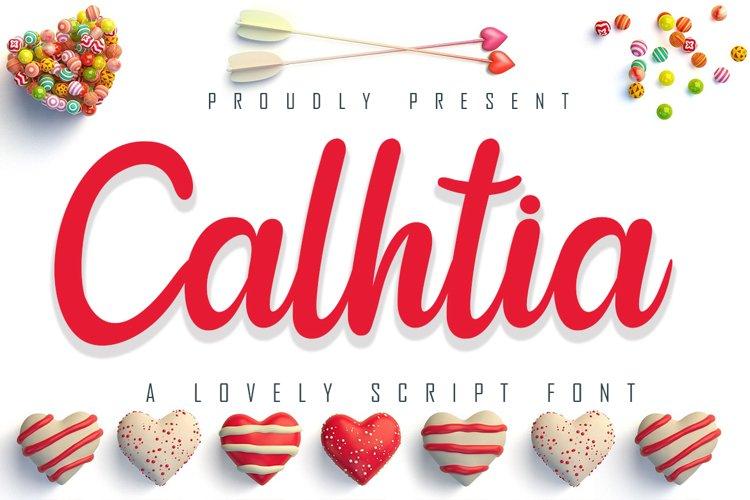 Calhtia Lovely Script Font example image 1