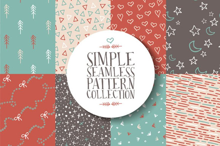 Simple seamless pattern collection example image 1
