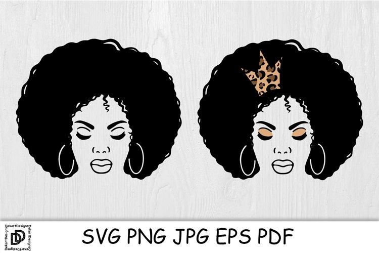 Black Woman SVG Afro Woman Bundle Black Woman With Crown