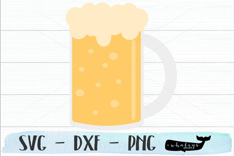 Beer Mug Clip Art - Silhouette and Cricut Cut File example image 1