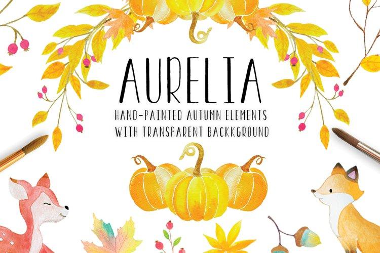 Aurelia Autumn Clip Art