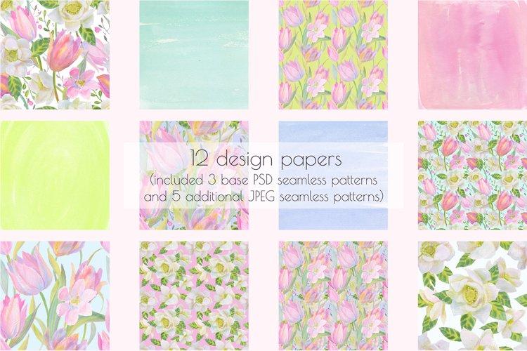 Floral Design Pack (watercolor & pastel) - Free Design of The Week Design1