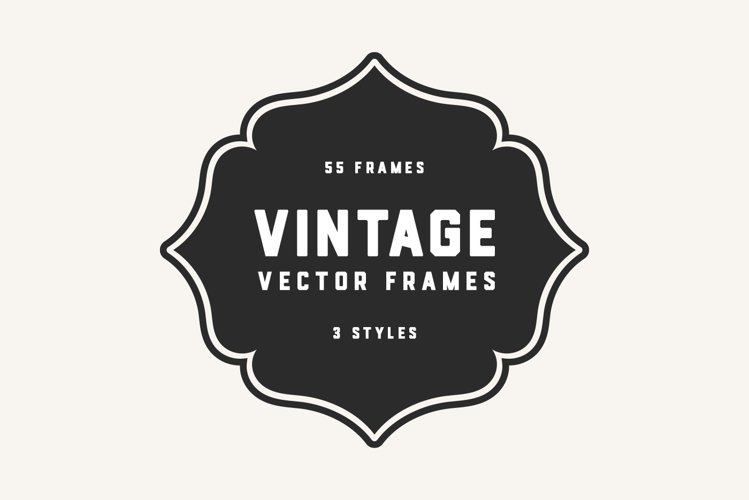 Vintage Outline SVG Badges & Vector Frames example image 1