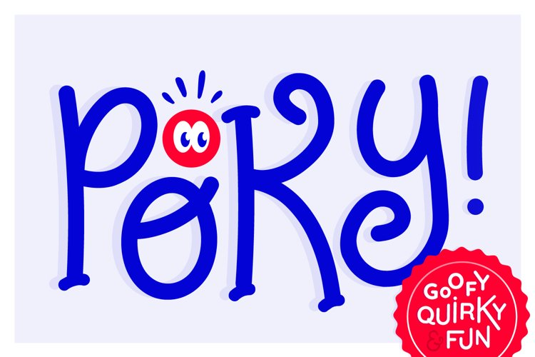 Poky Tall, a goofy font example image 1