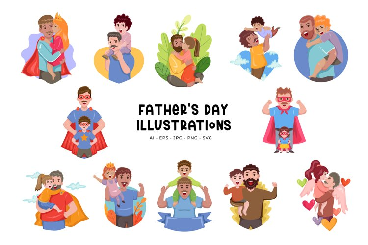 Fathers Day Illustrations