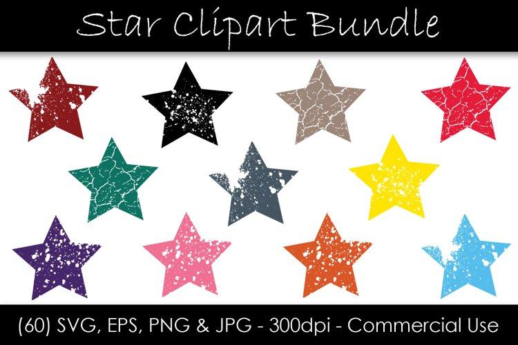 Stars SVG Bundle - Grunge Star Clip Art