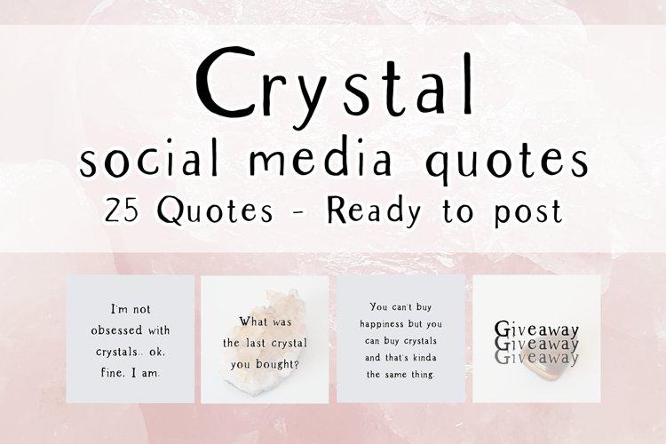 25 x Grey Crystal Social Media Quotes