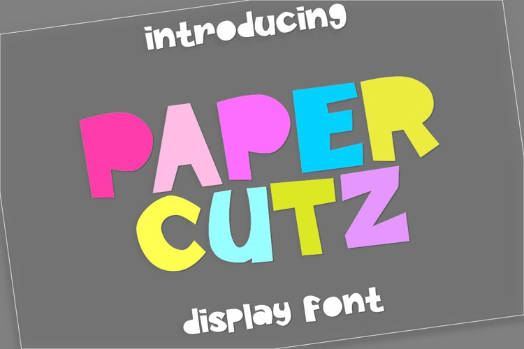 Paper Cutz Display Font example image 1