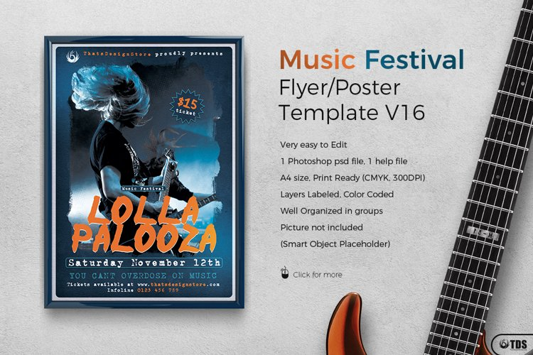 Music Festival Flyer Template V16 example image 1