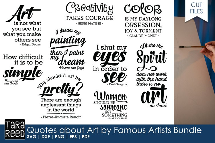 Quotes about Art by Artists Bundle example image 1