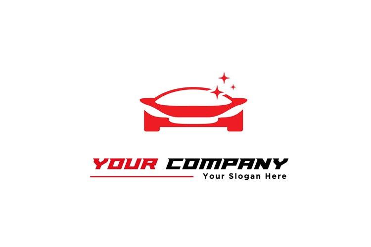 red sport car wash logo modern logo designs example image 1