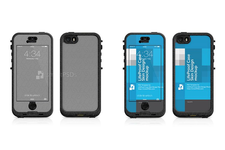 Apple iPhone 5S LifeProof NUUD Case Skin Design Template 2013 example image 1