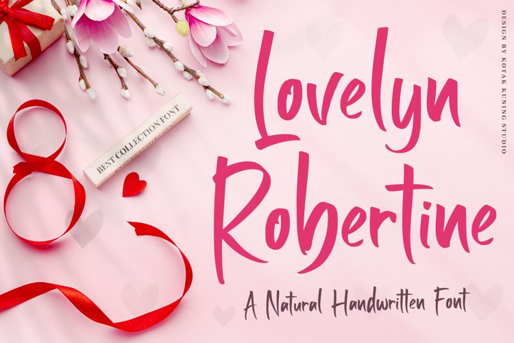 Handwritten Font - Lovelyn Robertine example image 1