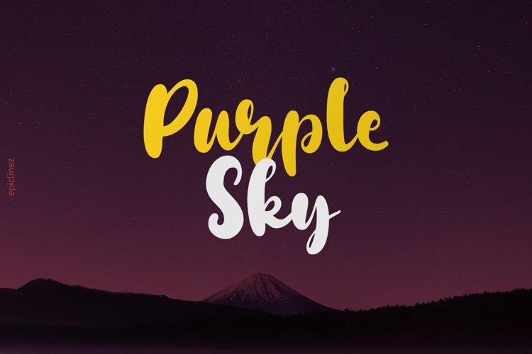 Purple Sky example image 1