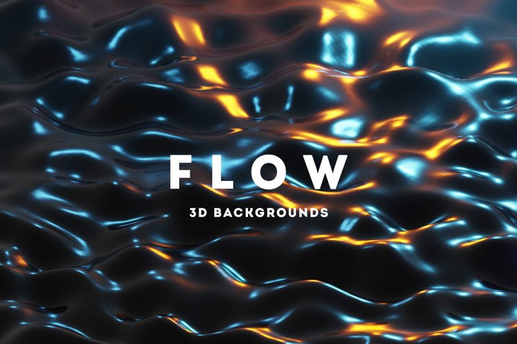 Flow - 25 Liquids 3D Backgrounds example image 1