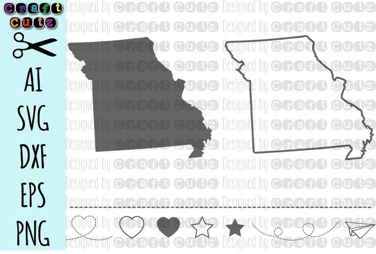 MISSOURI svg, State svg Files, Missouri Vector, United States svg, State Clip Art, Missouri Cut File, Missouri State Outline example image 1