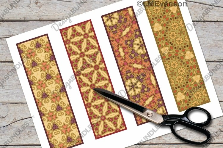 Bookmark, Printable Bookmark Set, Tapestry Pattern Bookmarks