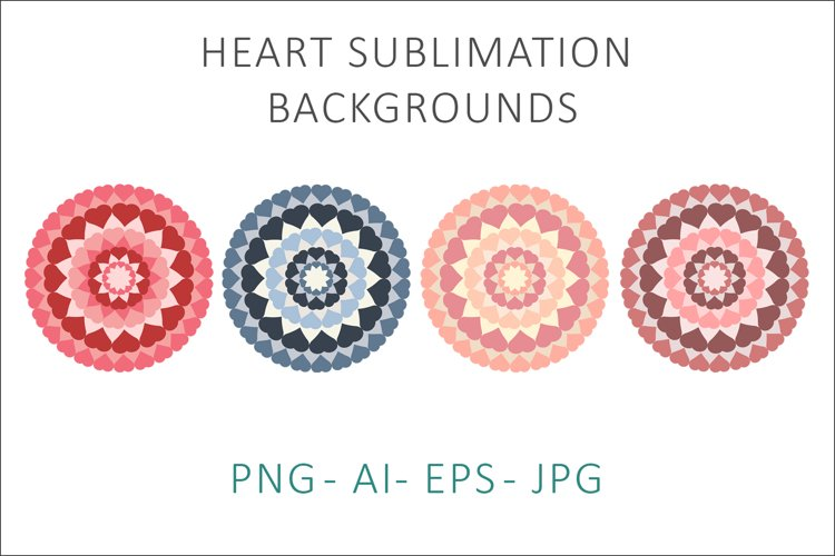 Heart Sublimation Backgrounds