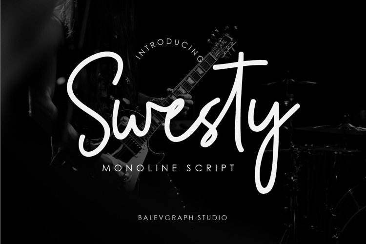 Swesty Monoline Script example image 1