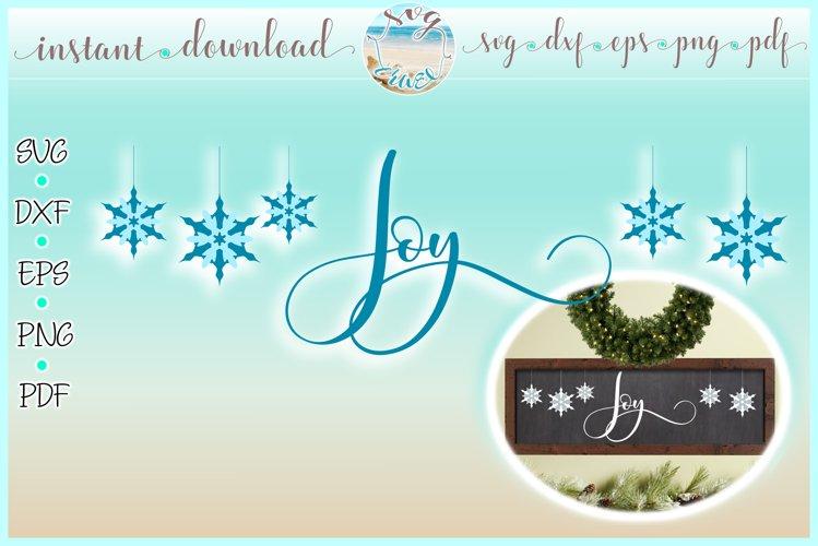 Joy Horizontal Wood Sign SVG Dxf Eps Png PDF example image 1