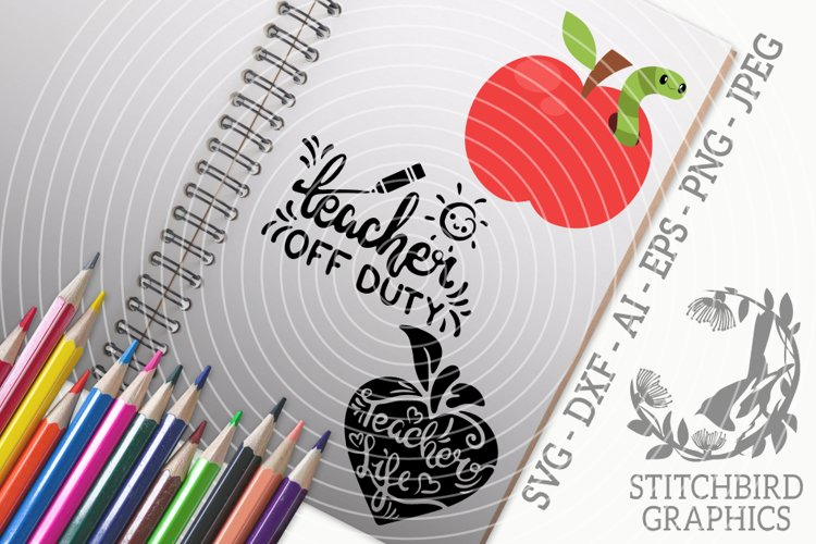 Teachers Life Bundle SVG, Silhouette Studio, Cricut, Eps example image 1