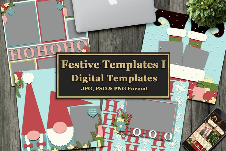 Festive Digital Templates example image 1