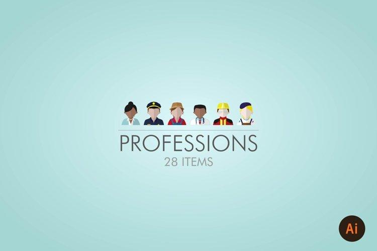 PROFESSIONS / PEOPLE  ICON SET