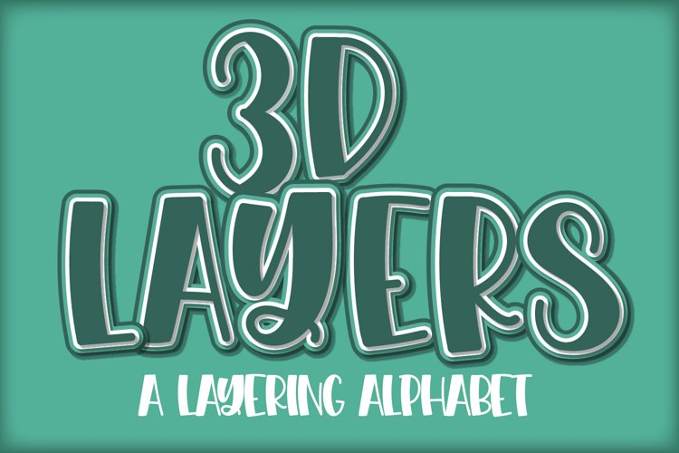 3D Layered Alphabet - SVG layering alphabet