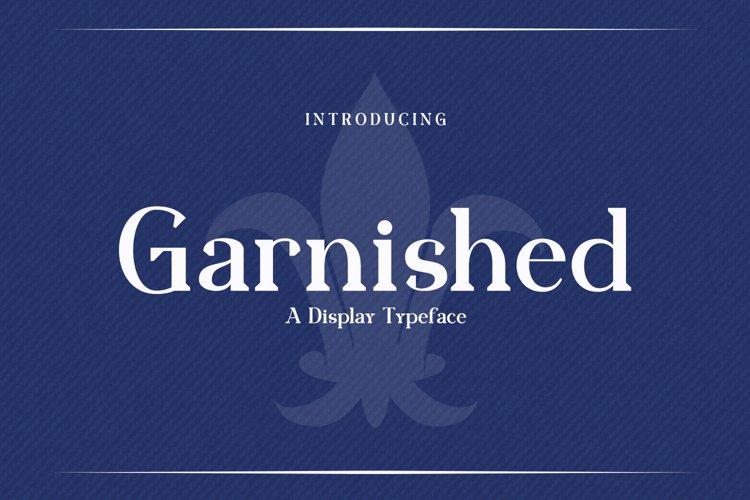 Web Font Garnished example image 1