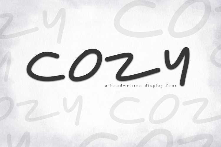 Cozy - A Handwritten Display Font example image 1