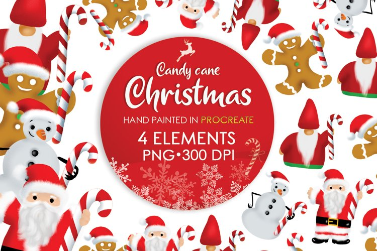 Christmas Clipart Png, Santa Png, Sublimation Christmas example image 1