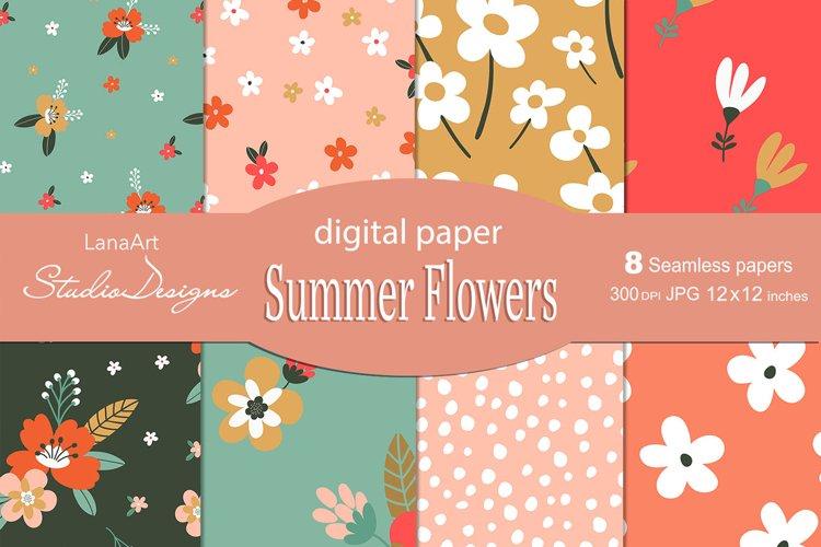 Summer Flowers digital paper